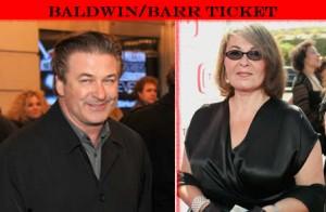 Alec Baldwin & Roseanne Barr